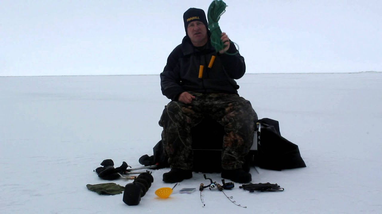 Ice fishing basic equipment review youtube for Basic fishing gear
