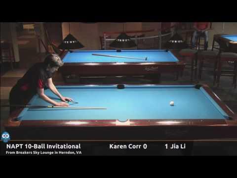 Karen Corr vs Jia Li (Finals) - NAPT Inaugural 10-Ball Invitational