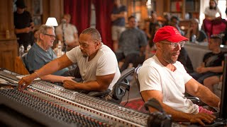 Timbaland, Jaycen Joshua and Dave Pensado producing a track at Studios La Fabrique