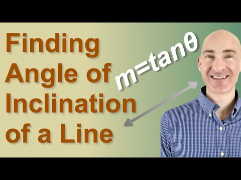 Finding Angle Of Inclination Of A Line