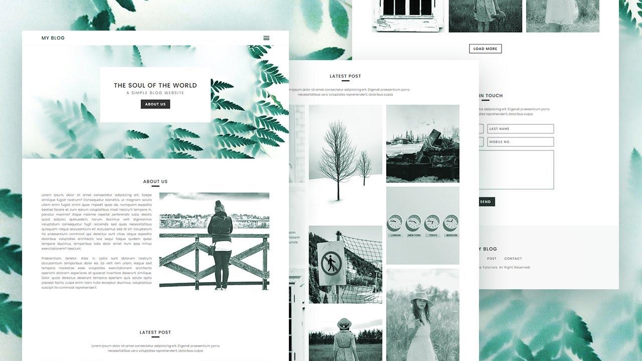 How To Make a Blog Website   Complete Responsive Website Design using HTML CSS & JavaScript