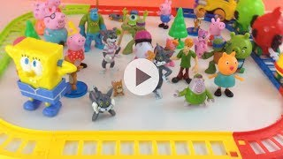 Tom and Jerry, Angry Birds Toy Train, Peppa Pig, Monster University, Scooby Doo,My Little Pony
