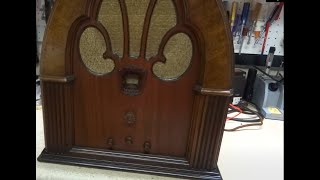 Repair of a 1931 Philco model 70 Cathedral Radio