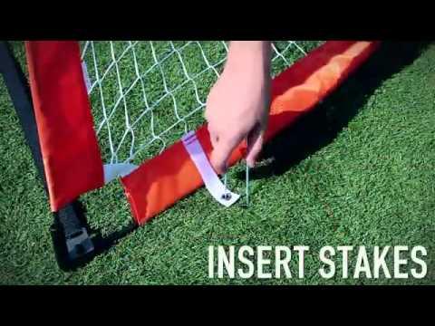 9c3a32e06 Champro 6' x 4' Fold-Up Soccer Goal - YouTube