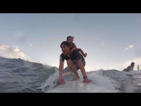 Hiwa's Daddy Daughter Surfing