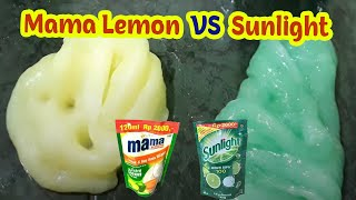 Sunlight Slime Tutorial VS Mama Lemon Slime - DIY How To Make Slime - Slime Indonesia