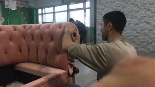 Как делается диван Честер