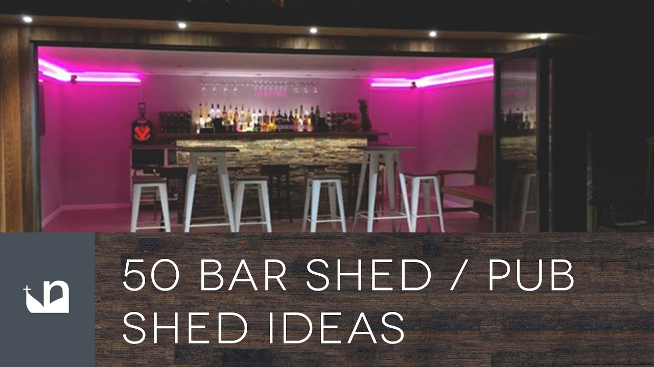 back yard garage ideas - 50 Cool Pub Shed And Bar Shed Ideas