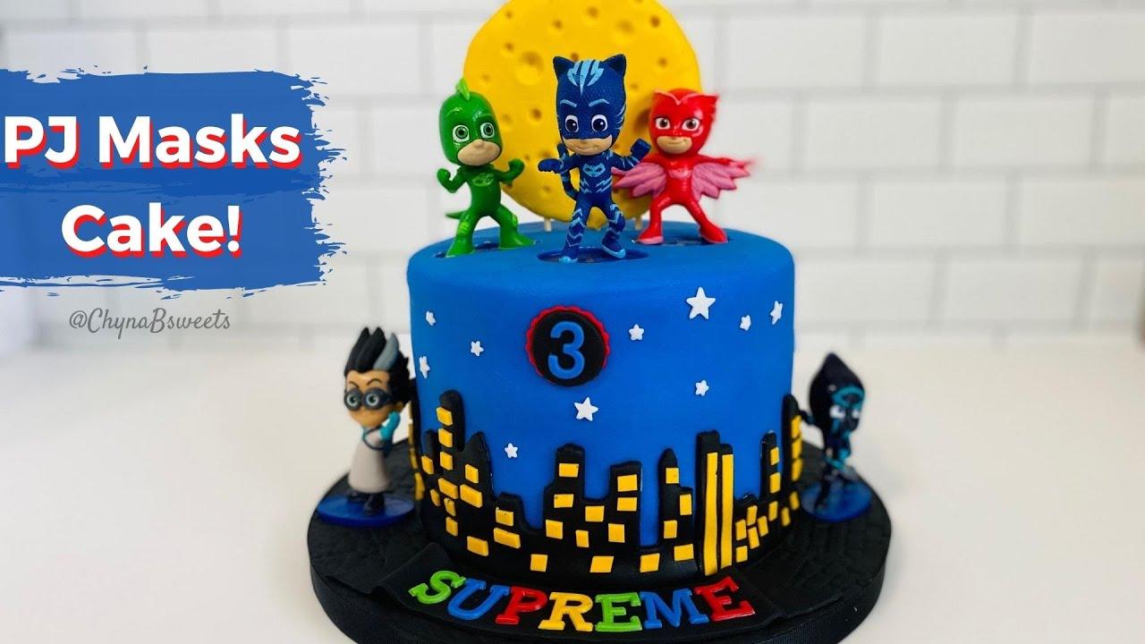 Pj Masks Birthday Cake Youtube