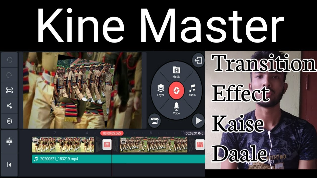 kine master mein transition effect kaise add kate