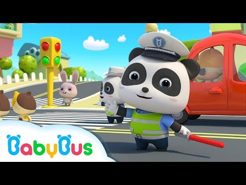 ❤ Traffic Police Officer | Animation For Babies | BabyBus