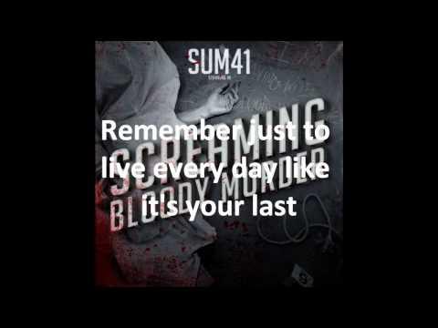 Sum 41 - Crash With Lyrics