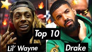 Top 10: Drake x Lil' Wayne