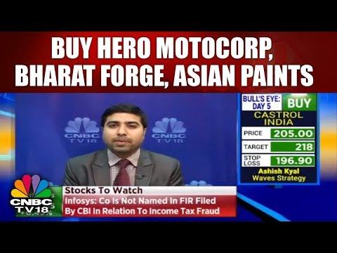 Buy Hero MotoCorp, Bharat Forge, Asian Paints: Chandan Taparia | CNBC TV18