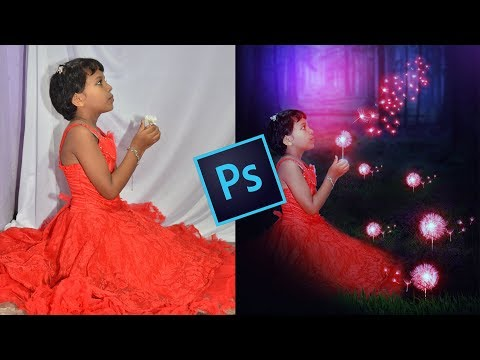 Glowing Dandelion Effect Photo Manipulation in Photoshop CC Tutorial thumbnail