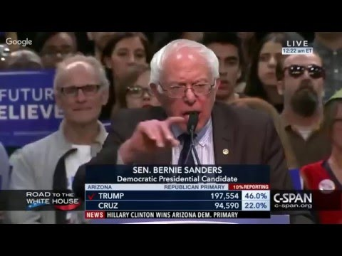 LIVE: BERNIE SANDERS Democratic Primary Results Coverage March 22 2016