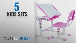 Kids Sets [2018]: VIVO Height Adjustable Children's Desk and Chair Set, Pink
