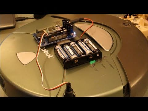 Remote Control Roomba Robot Tutorial with DJ sures