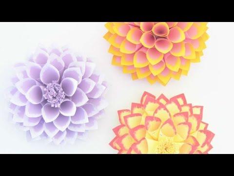 How To Make Beautiful Paper Dahlias - DIY Crafts Tutorial - Guidecentral