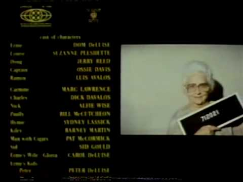 HOT STUFF (1979): Closing credits with mug shots (excerpt) Jerry Reed