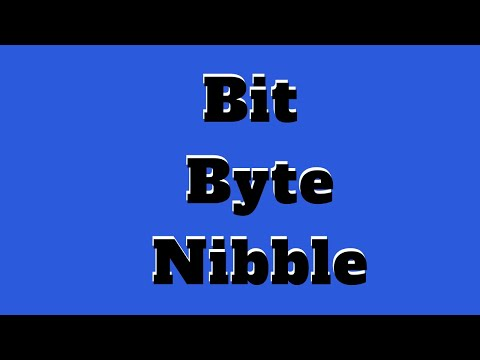 Bit Byte Nibble And Other Data Units