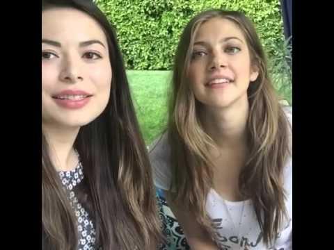 CHAT LIVE Di Miranda Cosgrove Con Mia Serafino Nel Suo Giardino!