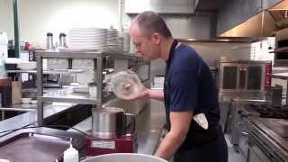 Chef Paul Virant Of Vie  Makes Chicken Liver Mousse W/cranberry Aigre Doux