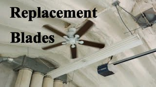 Shop Ceiling Fan - Reinstalling Higher & Making New Blades