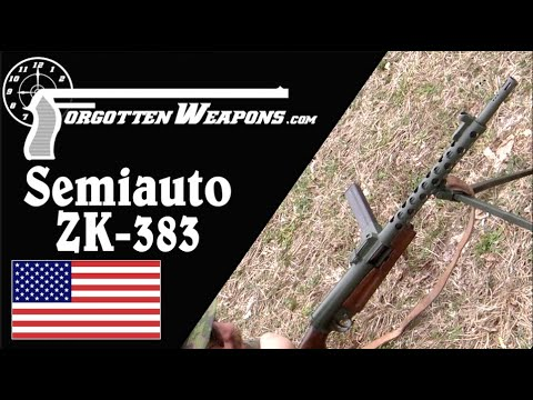 Semiauto ZK-383 on the Range