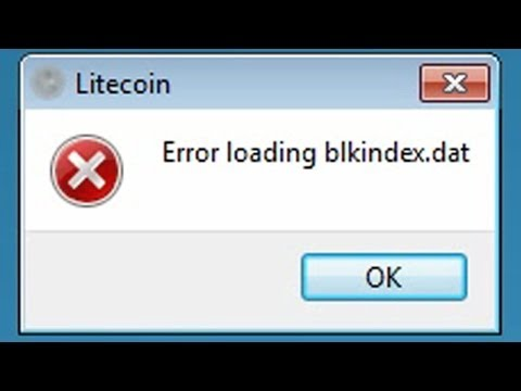 Litecoin wallet blkindex.dat error - easy fix