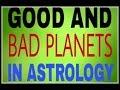 Friendship Of Planets/ Good And Bad Planets in Astrology