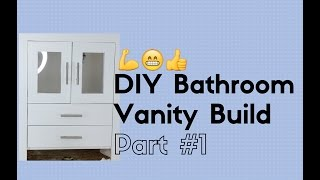 How to Build a Bathroom Vanity  Part 1
