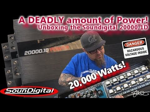 Unboxing a DEADLY amount of power - 20,000 Watts ONE Amplifier! Soundigital 20000.1D + the Guts!