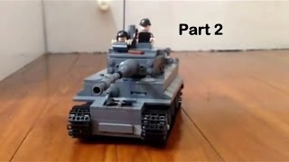 How to make a lego tiger tank pt 2