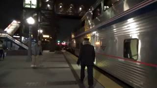 Amtrak #4 Southwest Chief departing Fullerton station with marti ann 2018-02-17