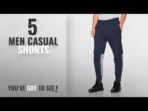 Jordan Men Casual Shorts [Winter 2018 ]: Men's Jordan Sportswear Flight Fleece Cement Pants MIDNIGHT