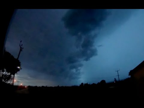 Incredible Face Appears In Clouds During Lightning Storm 2017