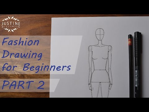 How to draw  a woman body   fashion figure   Fashion drawing for     How to draw  a woman body   fashion figure   Fashion drawing for beginners   2   Justine Leconte