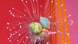 Сделать Пасхальные Подарки Своими Руками Ваза Подставка Яйца Пластиковых Бутылок Поделки с детьми