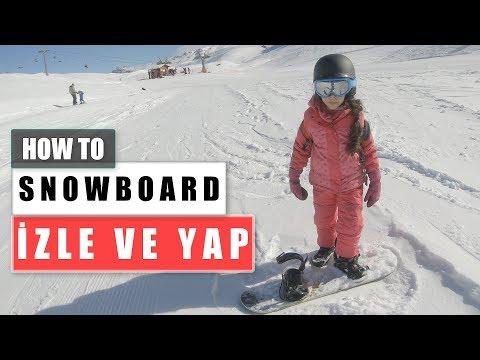 Snowboard Nasıl Yapılır | İki Günde Kızıma Öğrettim | How To Snowboard