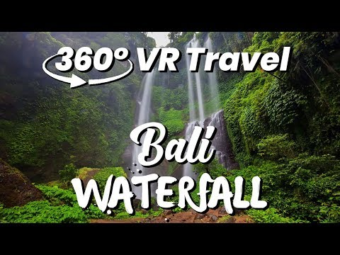 MOST BEAUTIFUL Waterfall in Bali || 360 VR Travel Vlog (GoPro Fusion)