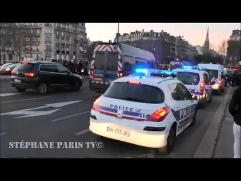 Massive Police Emergency Response In Paris