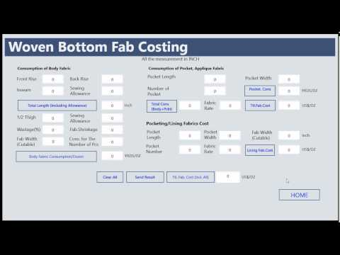 Apparel Costing Apps