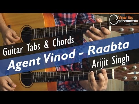 Raabta | Agent Vinod - Guitar Tabs (Lead) & Chords (Lesson/Tutorial) Cover