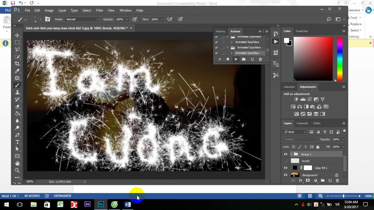 Làm ảnh gif pháo bông bằng photoshop đơn giản (làm ảnh gif )