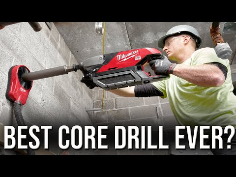 New Core Drill From Milwaukee Tools Makes Drilling Concrete FASTER AND SAFER!