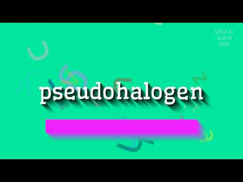 """How to say """"pseudohalogen""""! (High Quality Voices)"""