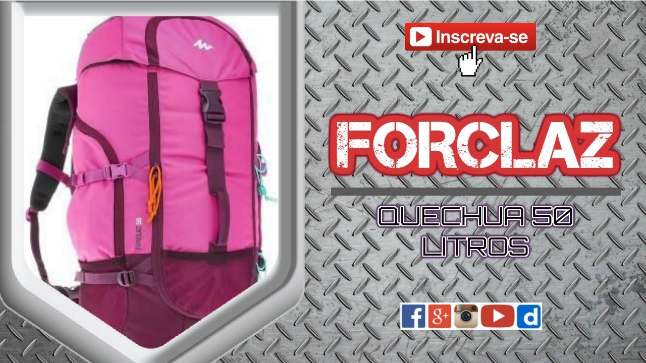 00bab33f2 Mochila Quechua FORCLAZ 50L - YouTube