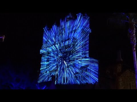 INCREDIBLE Star Wars Death Star Projections on Tower of Terror! Walt Disney World Hollywood Studios