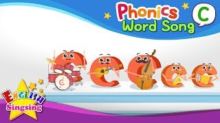 Phonics Word song C - English Songs - Educational video for Kids